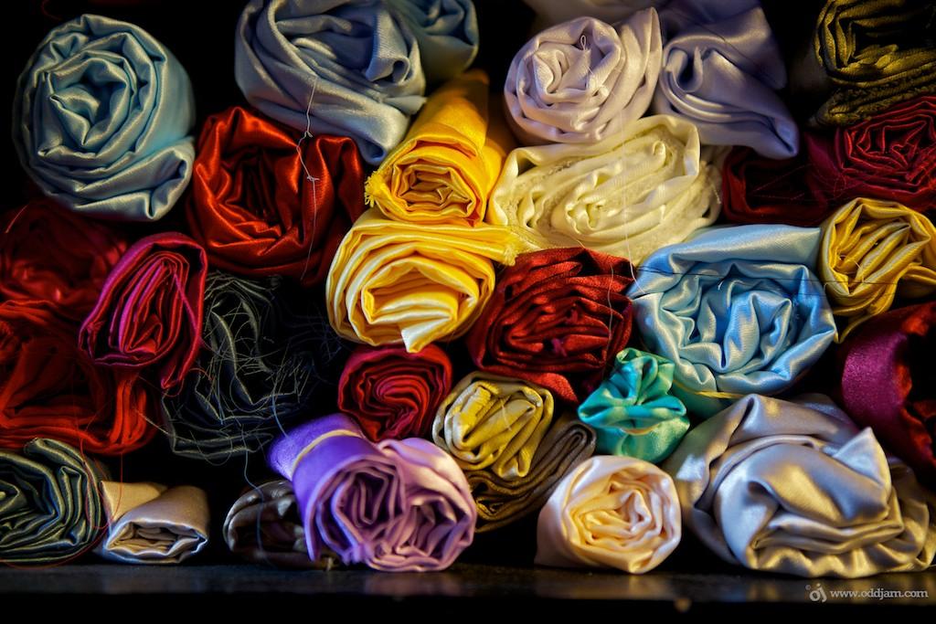 fabrics, textiles and slit materials